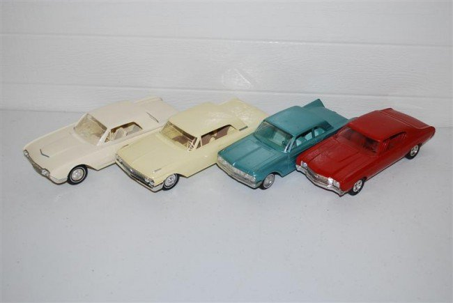73: 4-Promo Cars 1962 Ford, 1962 T-Bird, 1961 Falcon &