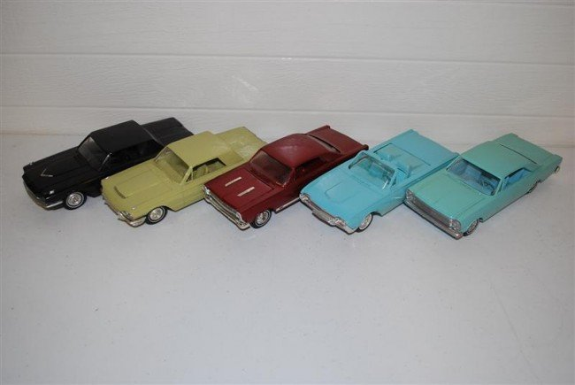 74A: 5-Promo Cars, all have been repainted, plastic,