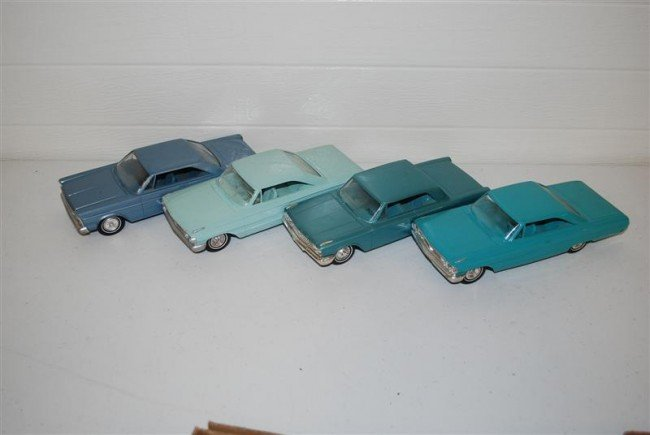 74B: 4-Ford Galaxy Promo Cars 1963, 2-1964 & 1965, plas