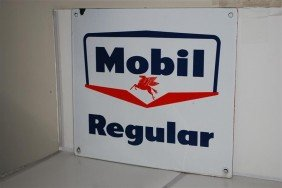 Mobil Regular With Small Pegasus SSP Sign, 14x16 In