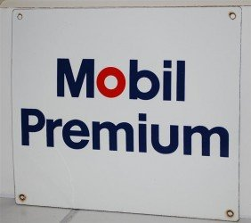 19: Mobil Premium SSP sign, 14x16 inches,