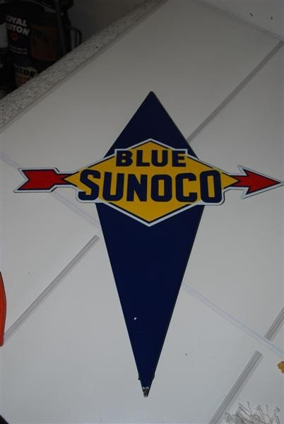 20: Blue Sunoco  PPP diecut sign, 22x16 inches,