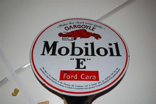 "22: Mobiloil ""E"" for Ford Cars with Gargoyle logo, DSP"