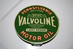 23: Valvoline Motor Oil Light Medium DST paddle sign, 7