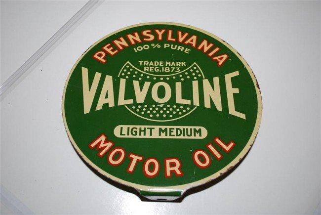 23: Valvoline Motor Oil Light Medium DST paddle sign, 7