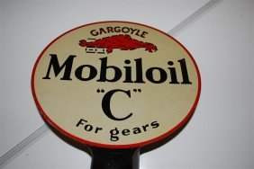 "24: Mobiloil ""C"" for gears with Gargoyle logo, DST padd"