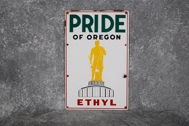 1: Pride of Oregon Ethyl with logo, PPP sign, 22x14 inc