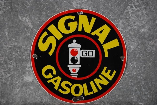 4: Signal Gasoline (red spotlight)  PPP sign, 12 inches
