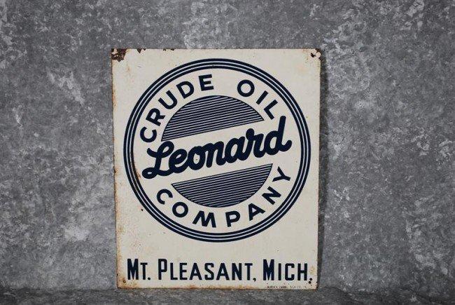 9: Leonard Company Mt. Pleasant, Mich. SST sign, 12x10