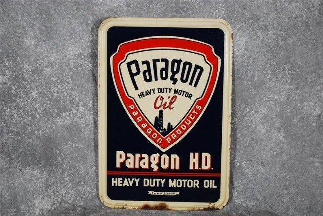 11: Paragon Heavy Duty Motor Oil with logo, SST embosse