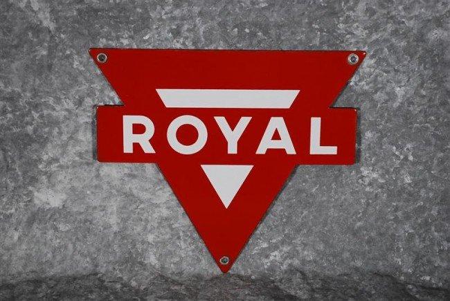 13: Royal  SSP diecut sign, 9x10 inches,