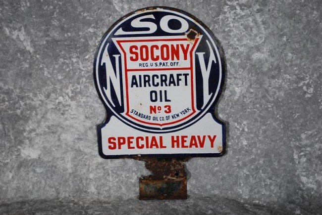 """14: Socony Aircraft Oil No 3 """"Special Heavy""""  DSP paddl"""