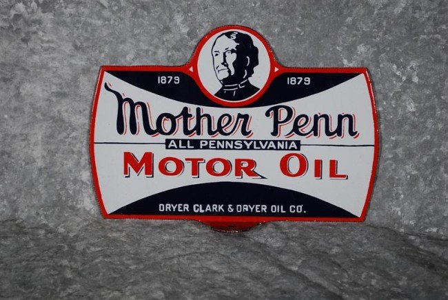 15: Mother Penn Motor Oil with logo, DSP paddle sign, 6