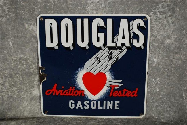 17: Douglas Gasoline Aviation Tested with flying heart