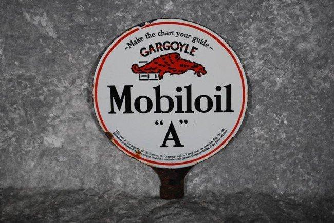 "23: Gargoyle Mobiloil ""A""  DSP sign, 10.5x9 inches,"