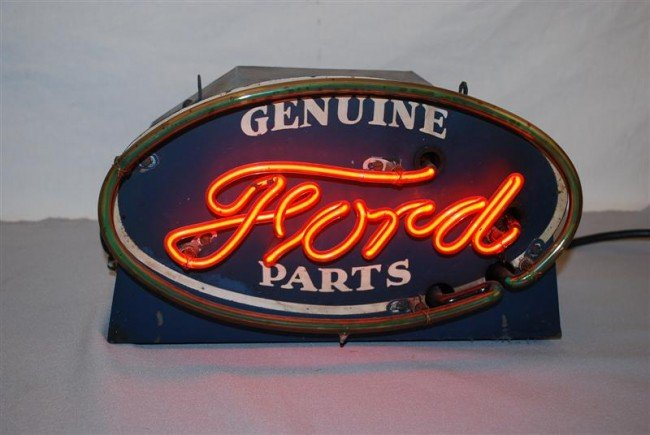 130: Super Rare Ford Genuine Parts SST neon counter-top
