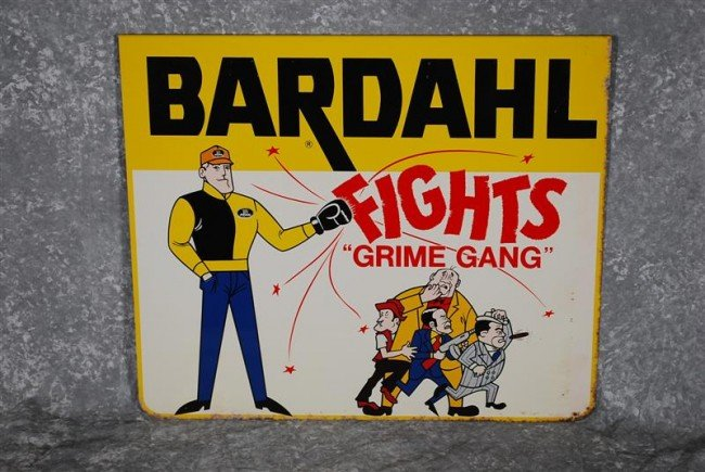 """215: Bardahl """"Fights Grime Gang"""" with logo, SST sign fo"""