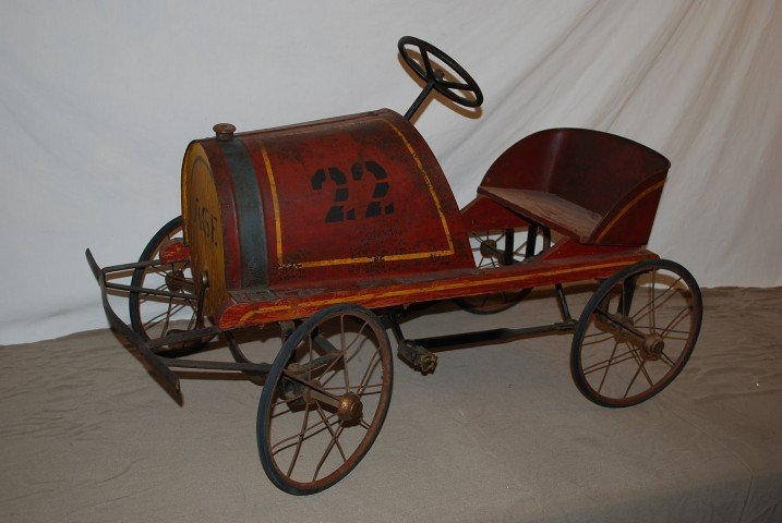53: 1920 Steelcraft? Pedal Car in original condition, r