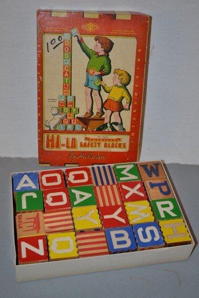2: Hi-Lo Safety Blocks by Halsam NIB, wood,