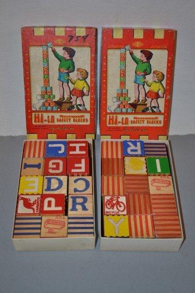 3: 2-Hi-Lo Safety Block by Halsam NIB, wood,