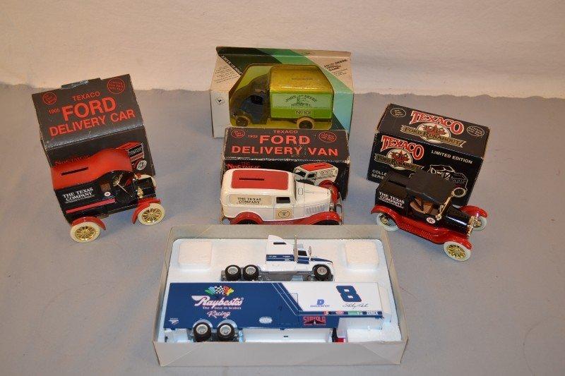 11: Box lot of Texaco & John Deere Truck Banks and more