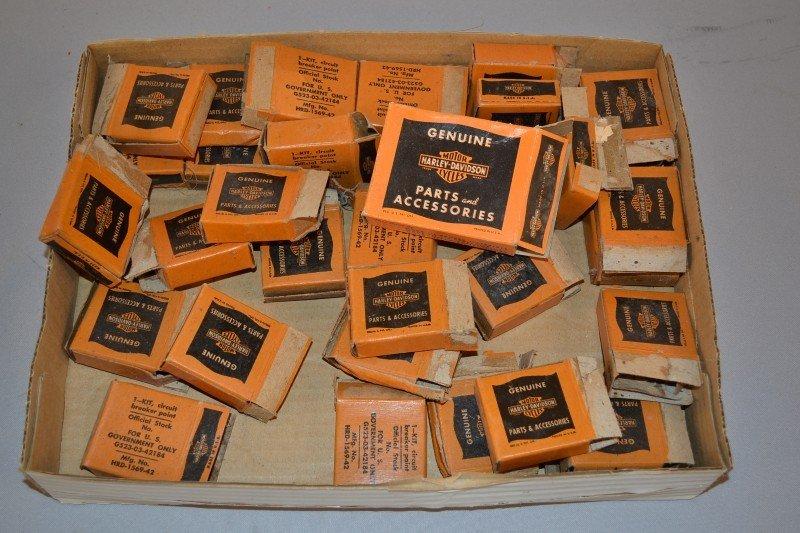 15: Large box lot of opened Harley-Davidson part boxes,