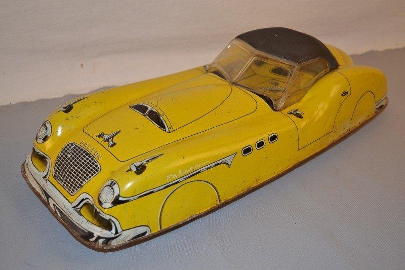 16: Marx Falcon Coupe (large) tin litho friction car, 2