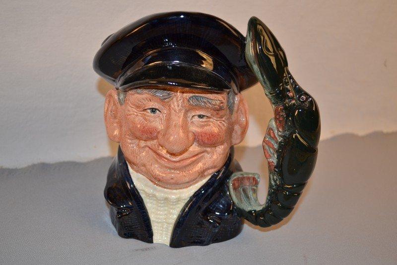 """23: Royal Doulton Toby Mug """"Lobster Man"""" 1967 #D6617, 8"""