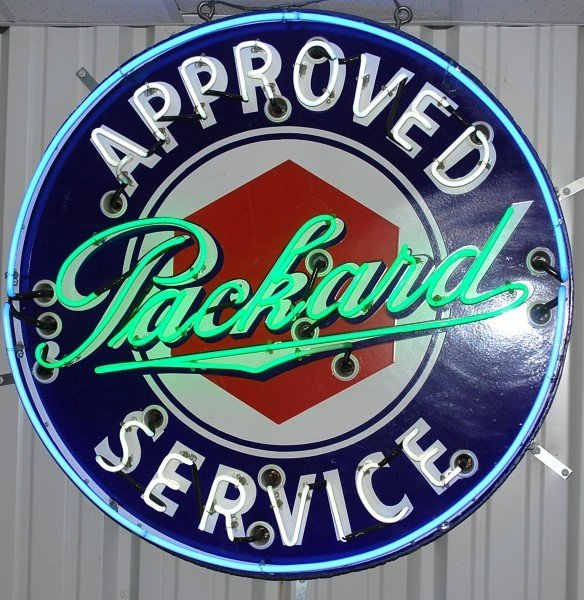 75: Approved Packard Service SSP neon sign, 42 inches,