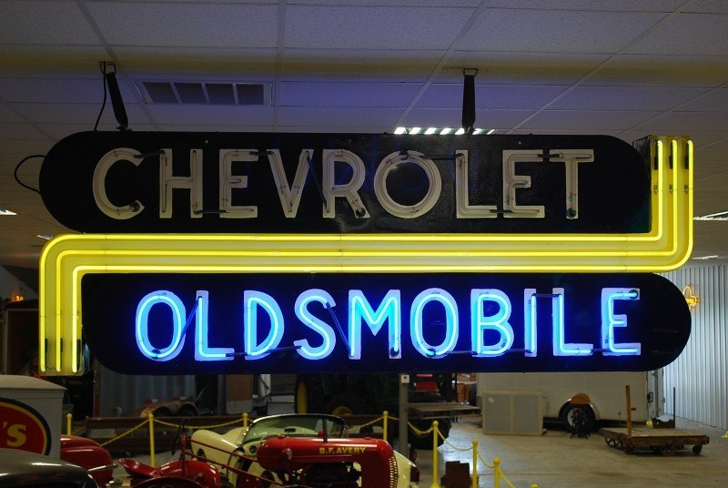 81: Chevrolet Oldsmobile  DSP neon sign, 34x96x12 inche
