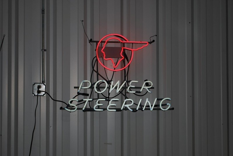 83: (Pontiac) Power Steering with logo skeleton neon si