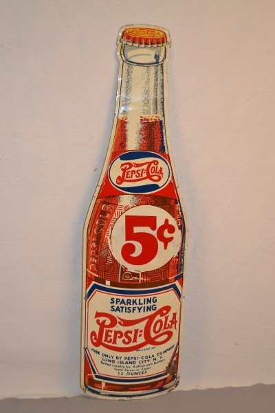 93: Pepsi-Cola bottle shaped sign, rated 7,  SST sign,