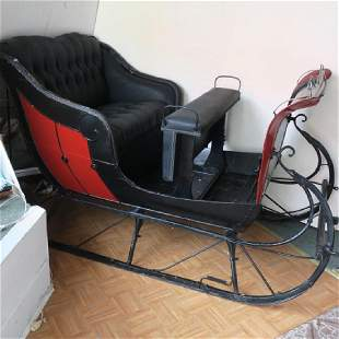 4 Seater Vintage One Horse Open Sleigh: