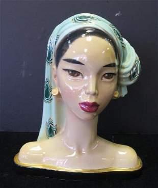 "BARBARA BALDWIN Fine China ""BALIHEAD"" Sculpture:"