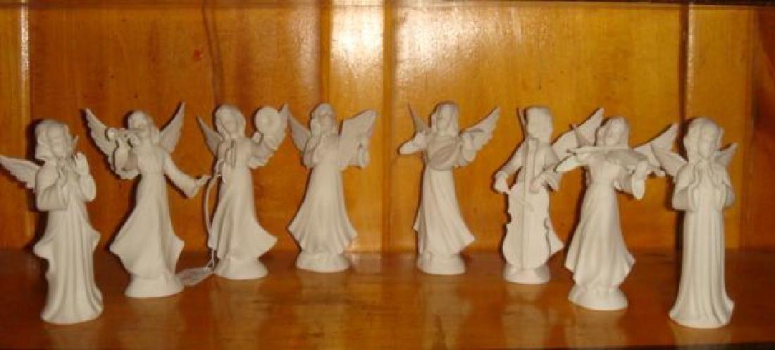 """DRESDEN White Bisque Eight Piece """"ANGEL BAND"""":"""