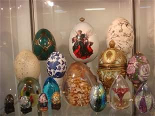 Seventeen Assorted Collector Eggs: