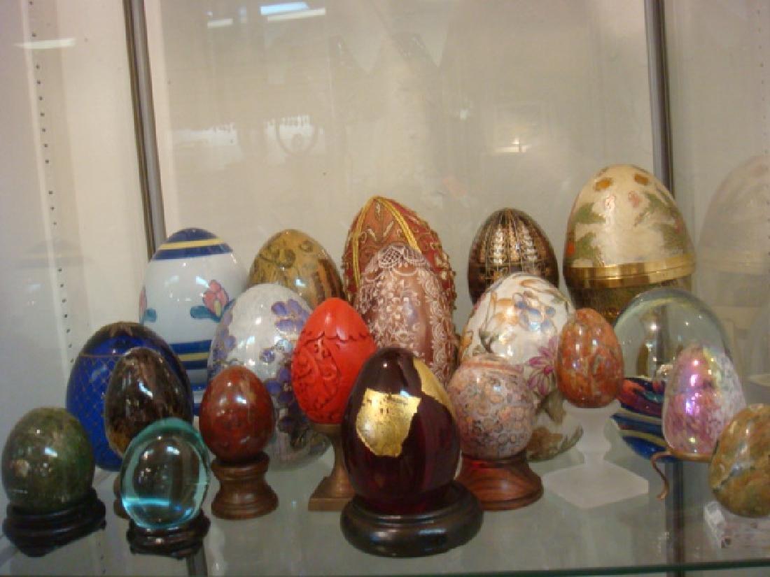 Twenty Assorted Decorator Eggs: