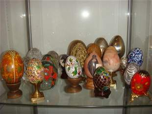 Twenty-Three Assorted Collector Eggs: