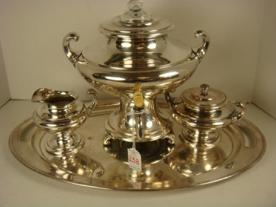 LF&C Universal Silver-plate Four Piece Coffee Set: