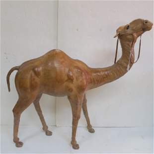 Standing Leather Wrapped Dromedary Camel