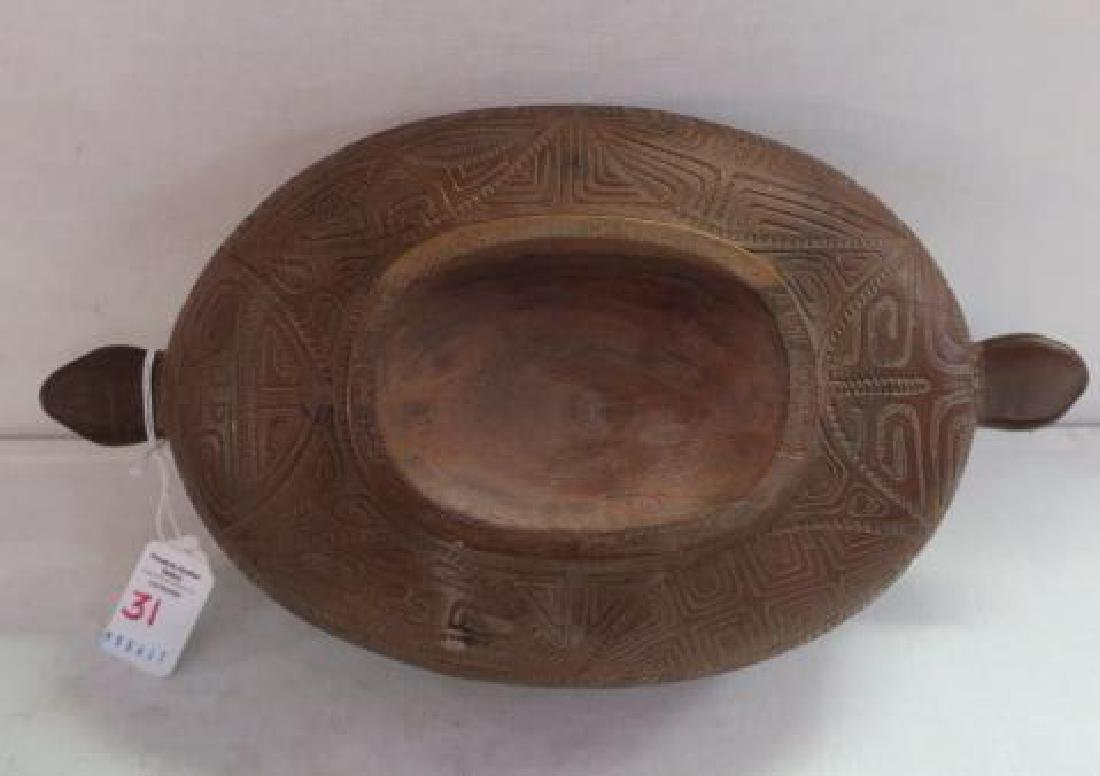 Marquesas Islands Highly Carved Koa Wood Lidded Bowl: - 4