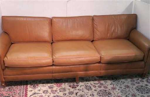 Loeblein Creations Chesterfield Leather Sofa See Sold Price