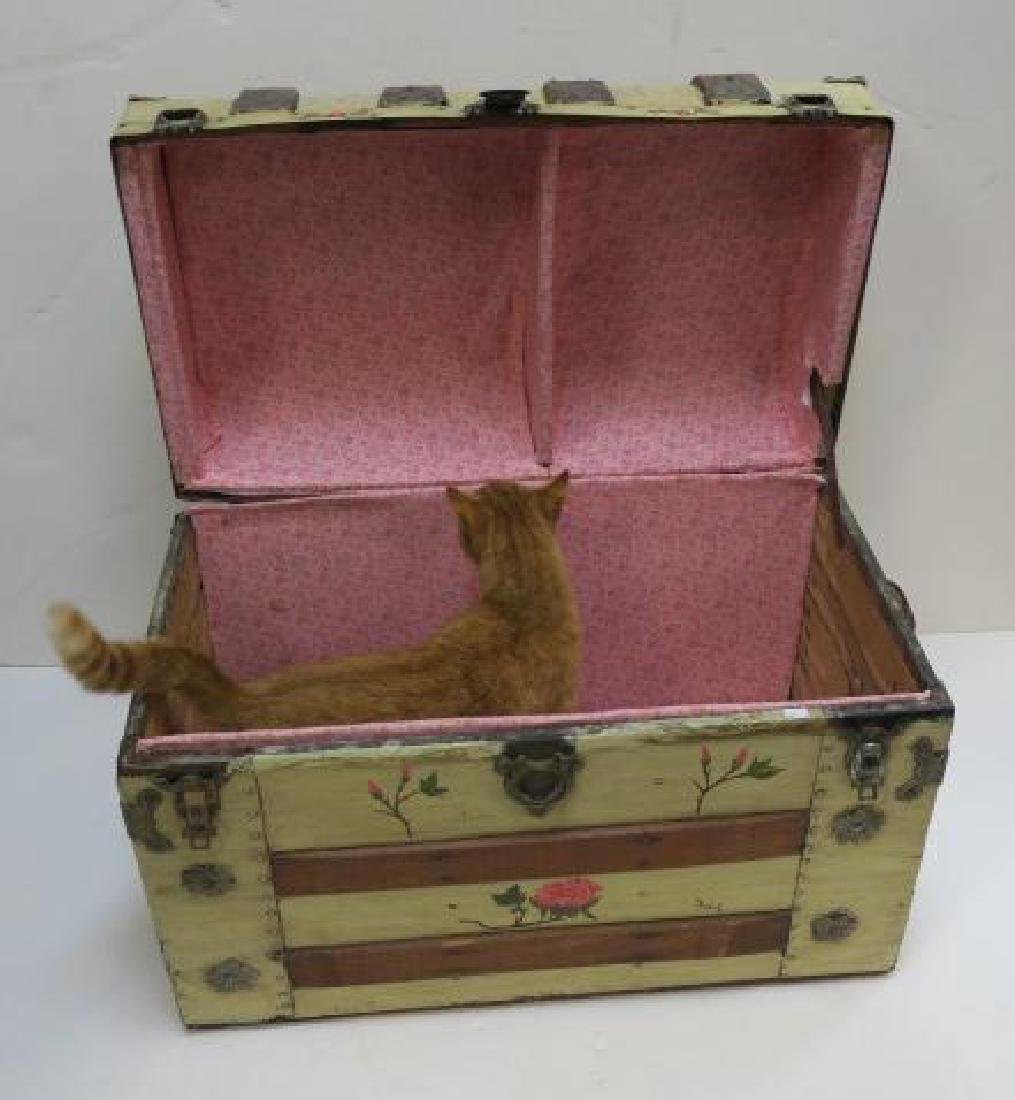 Hand painted Dome Top Steamer Trunk: - 2