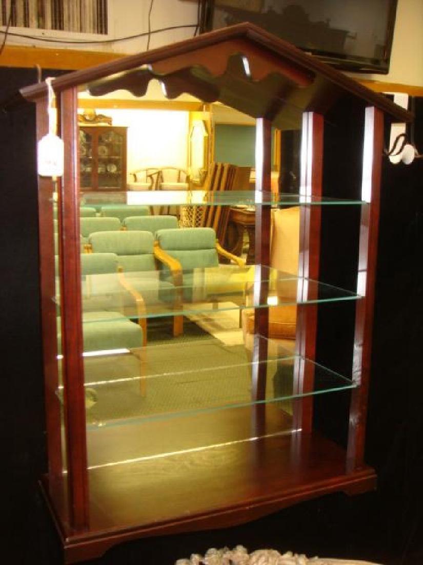 Four Tier Mahogany Display Shelf: