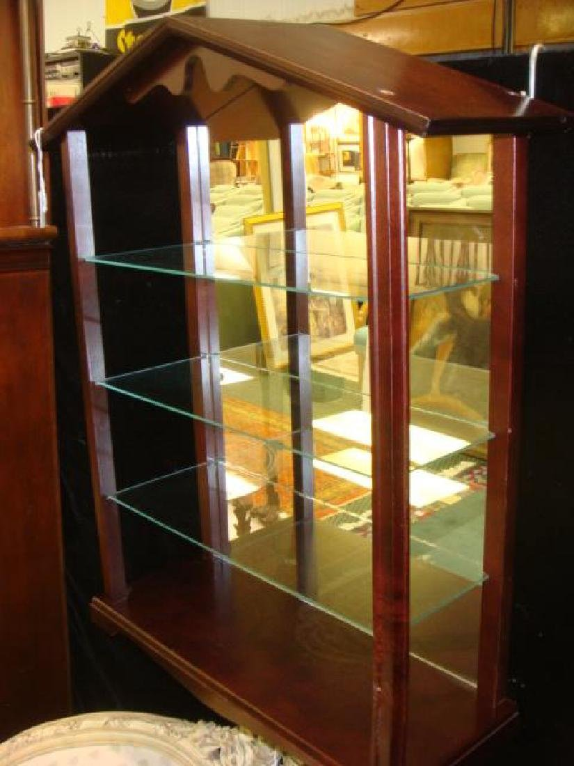 Four Tier Mahogany Display Shelf: - 2