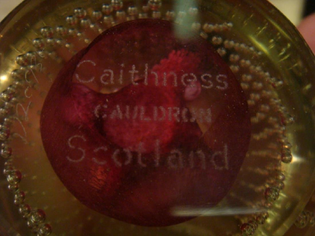 Three CAITHNESS Glass Paperweights with Stands: - 5