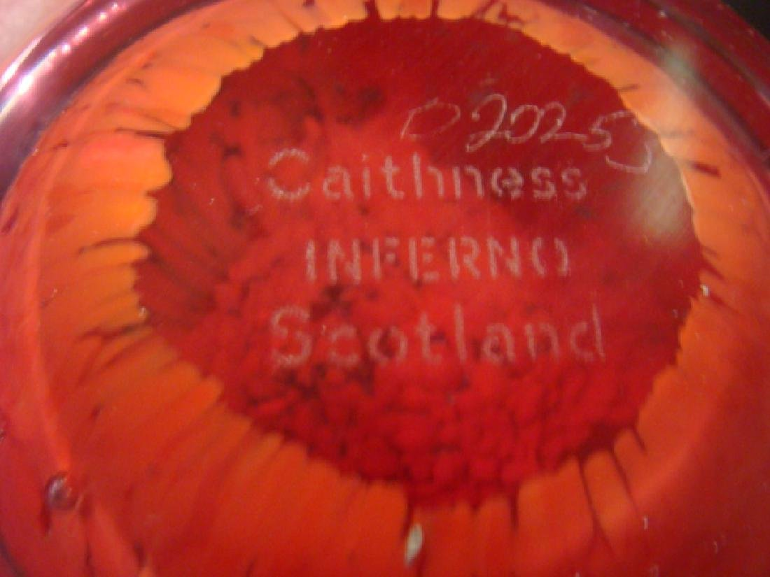 Three CAITHNESS Glass Paperweights with Stands: - 7