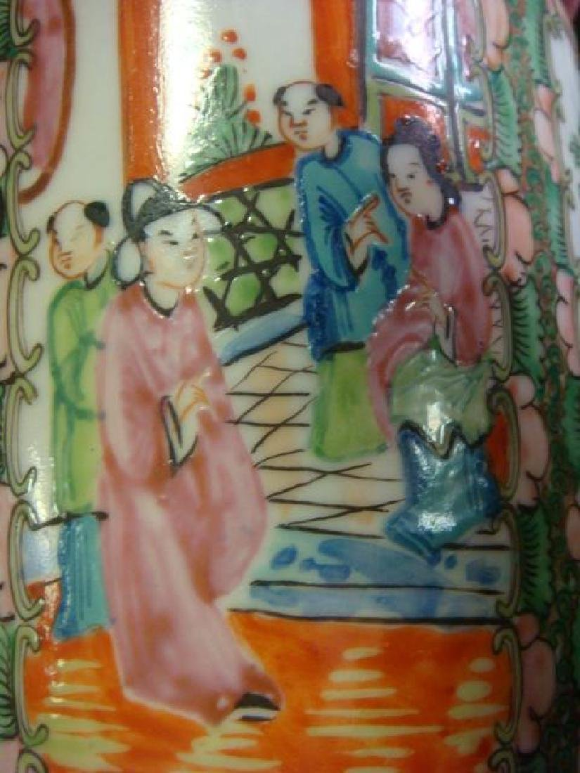 Rose Medallion Teapot and Ball Vase: - 2
