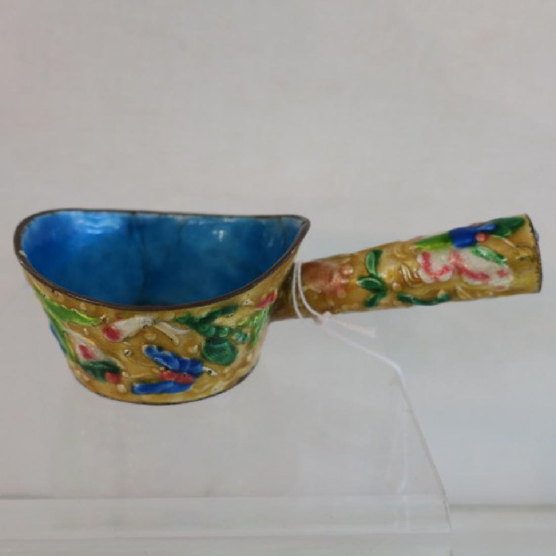 Seven Brass and Enamel Chinese Rice Coal Irons: - 4