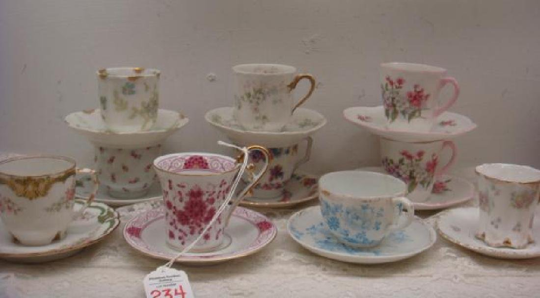 Ten Assorted Demitasse Cups and Saucers: